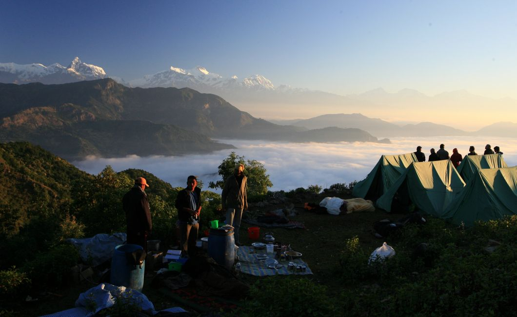 Killung Base Camp, breakfast in the morning