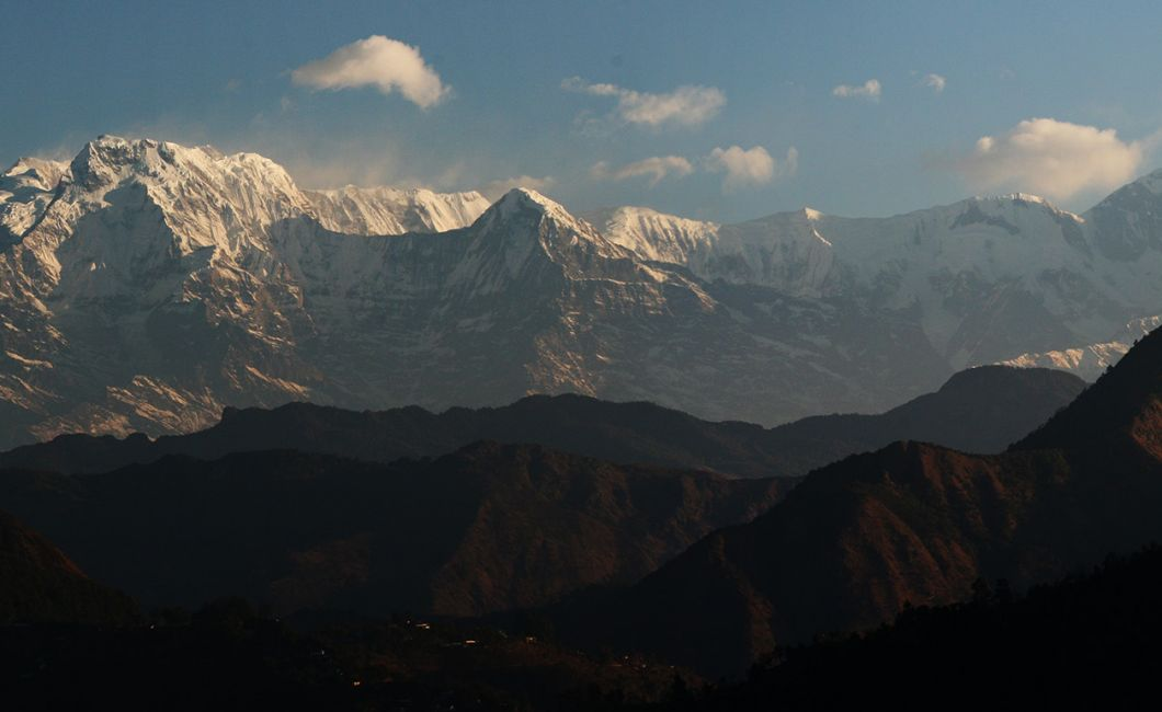Amazing views over the Annpurna range